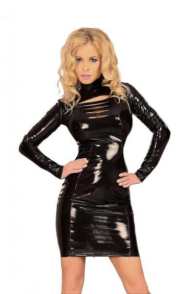 Kleid mit Stripe-Dekolleté - Datex