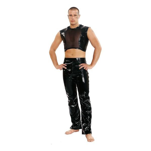 Lack Hose mit seitlichem Zipper Größe:M