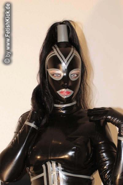Maske absperrbar mit Haartube